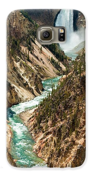 Yellowstone Waterfalls Galaxy S6 Case by Sebastian Musial