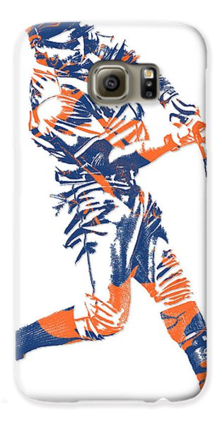 Yoenis Cespedes New York Mets Pixel Art 1 Galaxy S6 Case