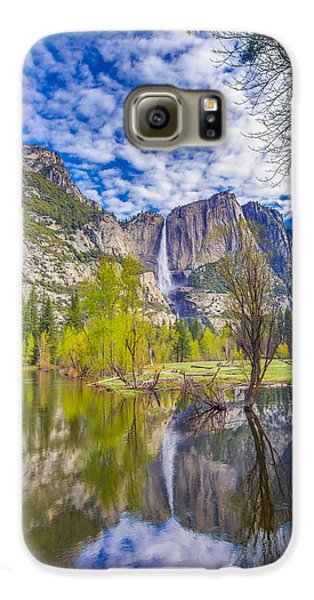 Yosemite Falls In Spring Reflection Galaxy S6 Case