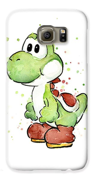 Extinct And Mythical Galaxy S6 Case - Yoshi Watercolor by Olga Shvartsur