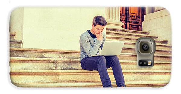 Young College Student Studying In New York 15042516 Galaxy S6 Case