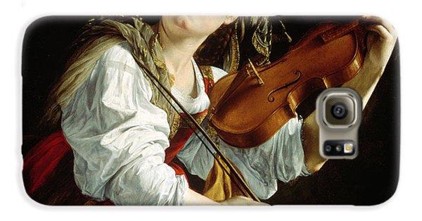 Violin Galaxy S6 Case - Young Woman With A Violin by Orazio Gentileschi
