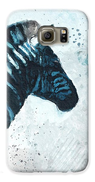 Zebra- Art By Linda Woods Galaxy S6 Case by Linda Woods