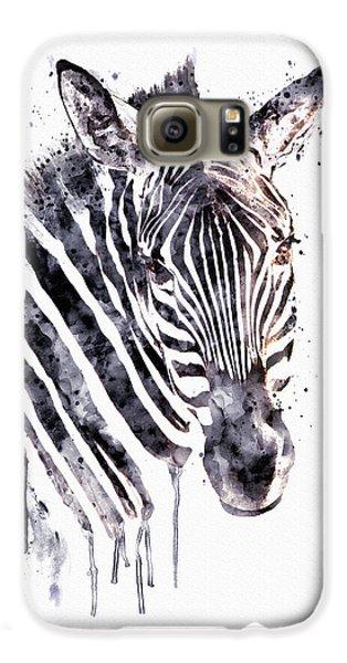 Zebra Head Galaxy S6 Case by Marian Voicu