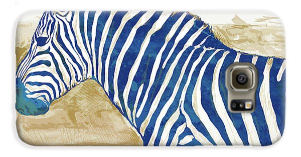 Zebra - Stylised Pop Art Poster Galaxy S6 Case