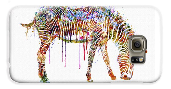 Zebra Watercolor Painting Galaxy S6 Case
