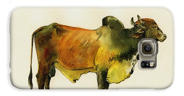 Zebu Cattle Art Painting Galaxy S6 Case