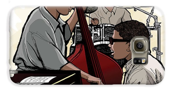 Drums Galaxy S6 Case - Vector Illustration Of A Jazz Band by Isaxar