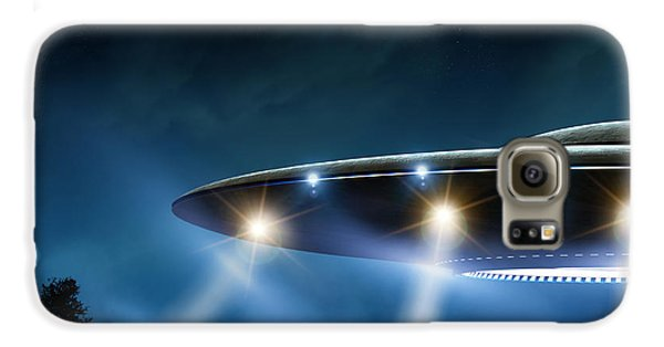 Outer Space Galaxy S6 Case - 3d Rendering Of Flying Saucer Ufo On by Oorka