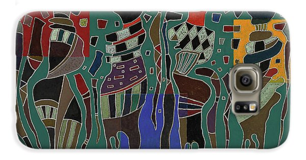 Voodoo Galaxy S6 Case - 4 Figures On 3 Squares, 1943 by Wassily Kandinsky
