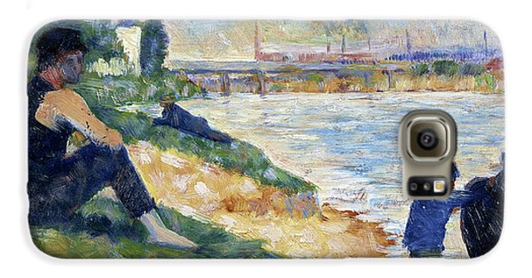 Boy George Galaxy S6 Case - A Study For A Bathing, 1883 by Georges Seurat