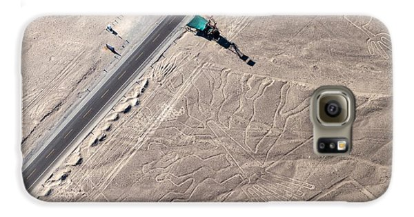 Airplanes Galaxy S6 Case - Aerial View Of Geoglyphs Near Nazca - by Matyas Rehak