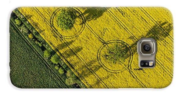 Airplanes Galaxy S6 Case - Aerial View Of Harvest Fields In Poland by Mariusz Szczygiel