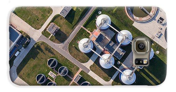 Airplanes Galaxy S6 Case - Aerial View Of Sewage Treatment Plant by Mariusz Szczygiel