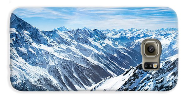 Airplanes Galaxy S6 Case - Aerial View Of The Alps Mountains In by Famveld