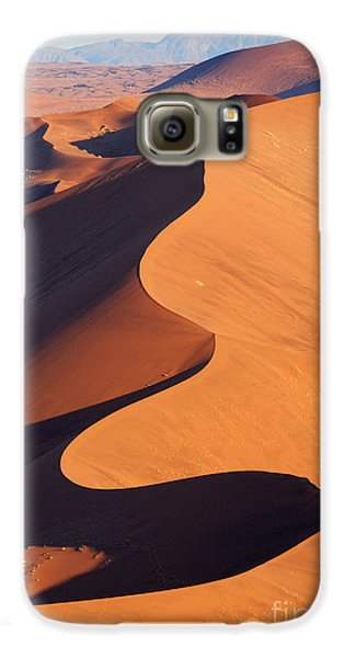 Airplanes Galaxy S6 Case - Aerial View Of The Namib Desert by Orxy