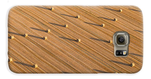 Airplanes Galaxy S6 Case - Aerial View Of Tractor On Harvest Field by Mariusz Szczygiel