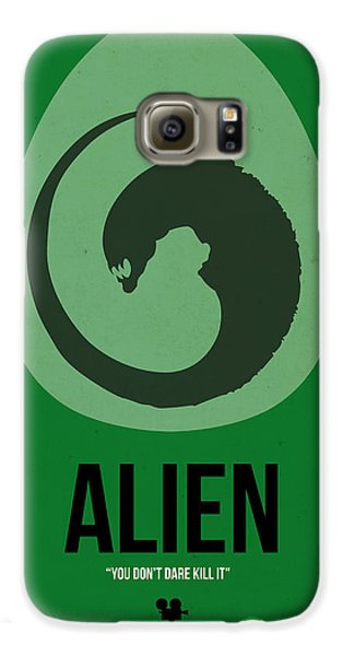 Outer Space Galaxy S6 Case - Alien by Naxart Studio