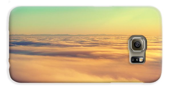 Airplanes Galaxy S6 Case - Amazing View From Plane On The Orange by Beautiful Landscape
