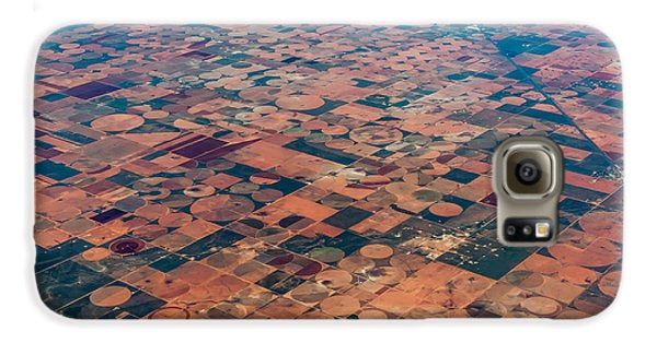 Airplanes Galaxy S6 Case - An Aerial View Of Massive Farmland With by Richard A Mcmillin