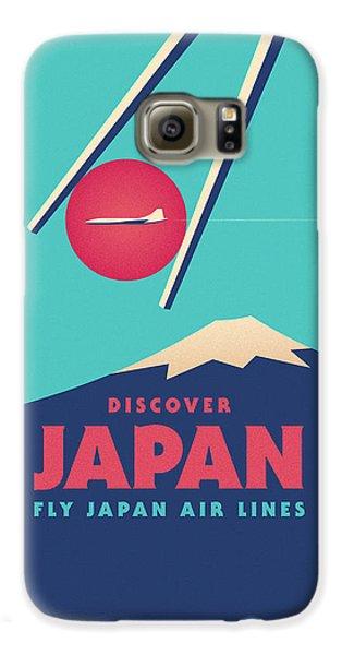Travel Galaxy S6 Case - Retro Japan Mt Fuji Tourism - Cyan by Ivan Krpan