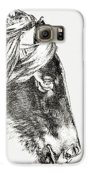 Galaxy S6 Case featuring the photograph Assateague Pony Sarah's Sweet Tea Sketch by Bill Swartwout Fine Art Photography