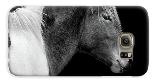 Galaxy S6 Case featuring the photograph Assateague Pony Susi Sole Black And White Portrait by Bill Swartwout Fine Art Photography