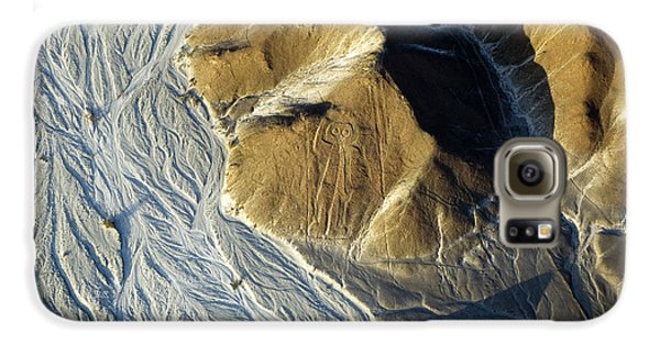 Airplanes Galaxy S6 Case - Astronaut, Nazca Lines In Peru by Faberfoto-it
