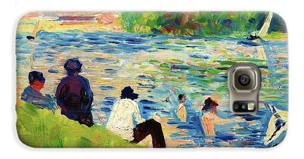 Boy George Galaxy S6 Case - Bathers - Digital Remastered Edition by Georges Seurat