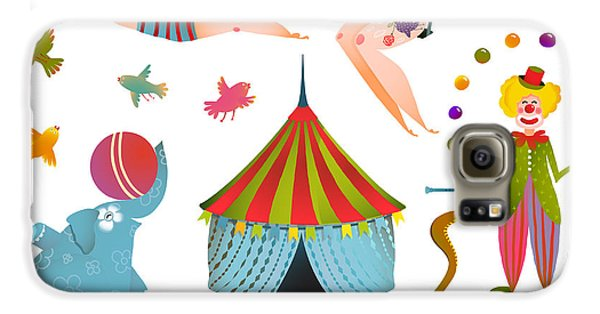 Drums Galaxy S6 Case - Circus Carnival Show Clip Art Vintage by Popmarleo
