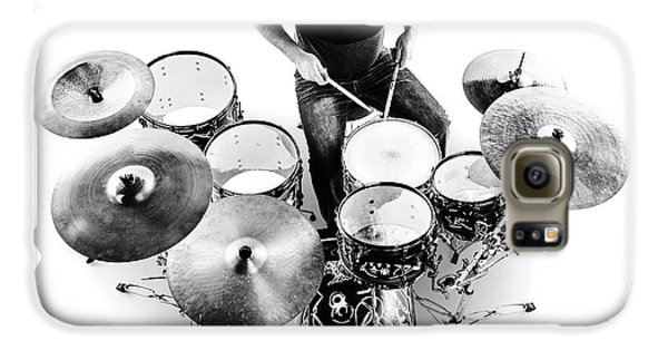 Drums Galaxy S6 Case - Drummer From Above by Johan Swanepoel