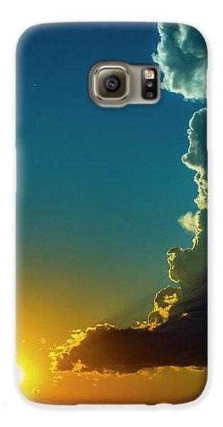 Nebraskasc Galaxy S6 Case - Dying Nebraska Thunderstorms At Sunset 068 by NebraskaSC