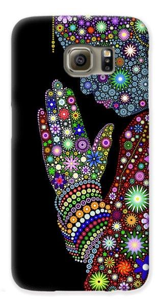 Flower Prayer Girl Galaxy S6 Case