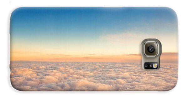 Airplanes Galaxy S6 Case - Flying Above The Clouds. View From The by Valentin Valkov
