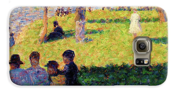 Boy George Galaxy S6 Case - Group Of Figures - Digital Remastered Edition by Georges Seurat