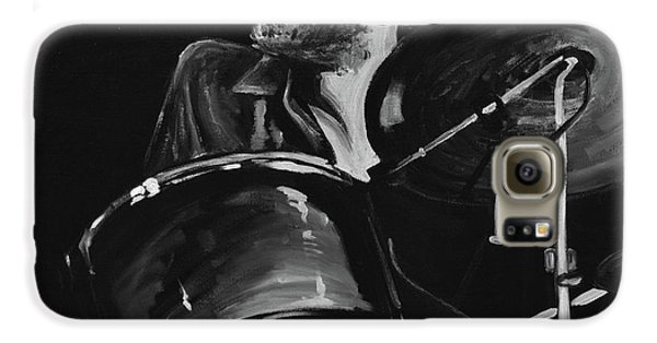 Drums Galaxy S6 Case - Levon Helm At Drums by Melissa O'Brien