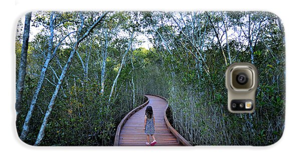Mangrove Galaxy S6 Case - Little Girl Age 04 Visit In Coombabah by Chameleonseye