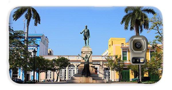 Town Galaxy S6 Case - Matanzas, Cuba - Main Square. Palm by Tupungato