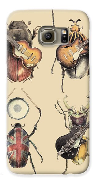 Drums Galaxy S6 Case - Meet The Beetles by Eric Fan