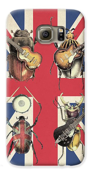 Drums Galaxy S6 Case - Meet The Beetles - Union Jack by Eric Fan