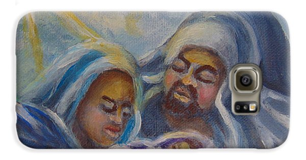 Galaxy S6 Case featuring the painting Nativity by Saundra Johnson