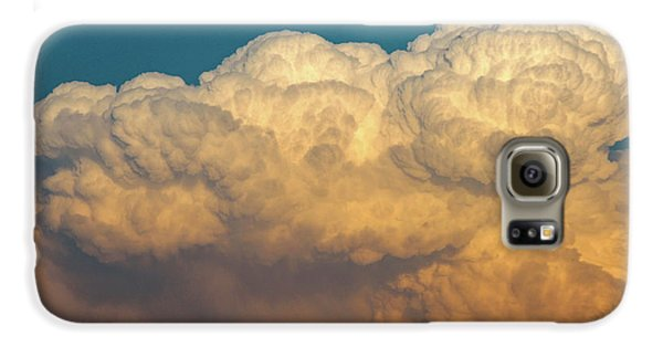 Nebraskasc Galaxy S6 Case - Nebraska Sunset Thunderheads 053 by NebraskaSC