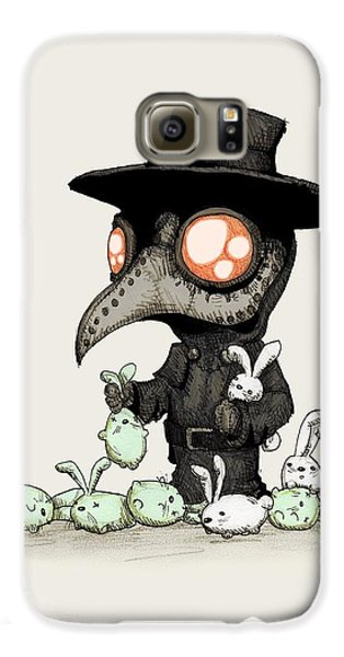 Doctor Galaxy S6 Case - Plague Doctor Experiments  by Ludwig Van Bacon