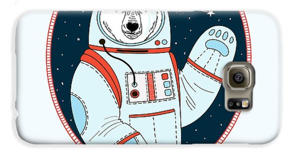 Outer Space Galaxy S6 Case - Polar Bear Astronaut In Outer Space by Olga angelloz