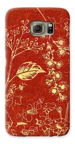 Orchid Galaxy S6 Case - Red Blossoms by Jorgo Photography - Wall Art Gallery