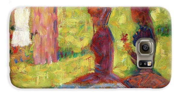 Boy George Galaxy S6 Case - Study Of Figures For La Grande Jatte - Digital Remastered Edition by Georges Seurat