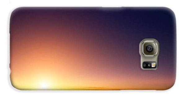 Airplanes Galaxy S6 Case - Sunset Sky Stratosphere Background by Logoboom