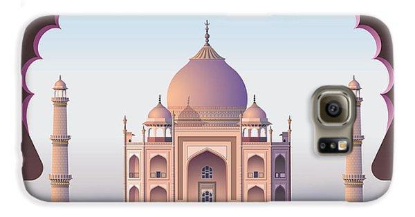 Drums Galaxy S6 Case - Taj Mahal Through The Window by Nikola Knezevic