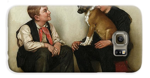 Boy George Galaxy S6 Case - Two Shoeshine Boys With A Dog by John George Brown