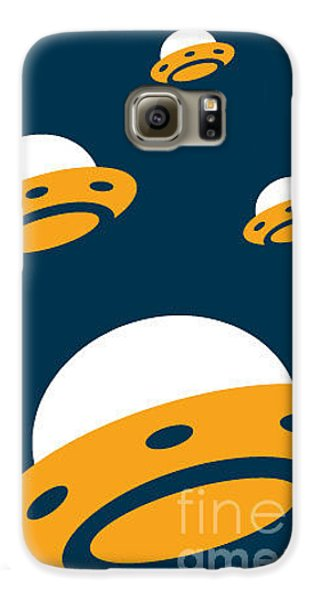 Outer Space Galaxy S6 Case - Ufo Invasion 2 by Pelonmaker